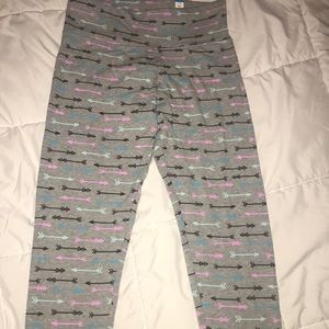 girls arrow printed leggings